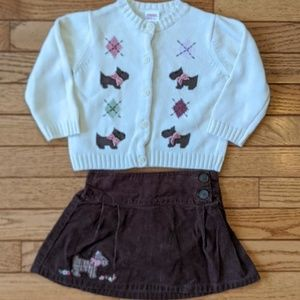 Gymboree Dog Sweater and Skirt Set